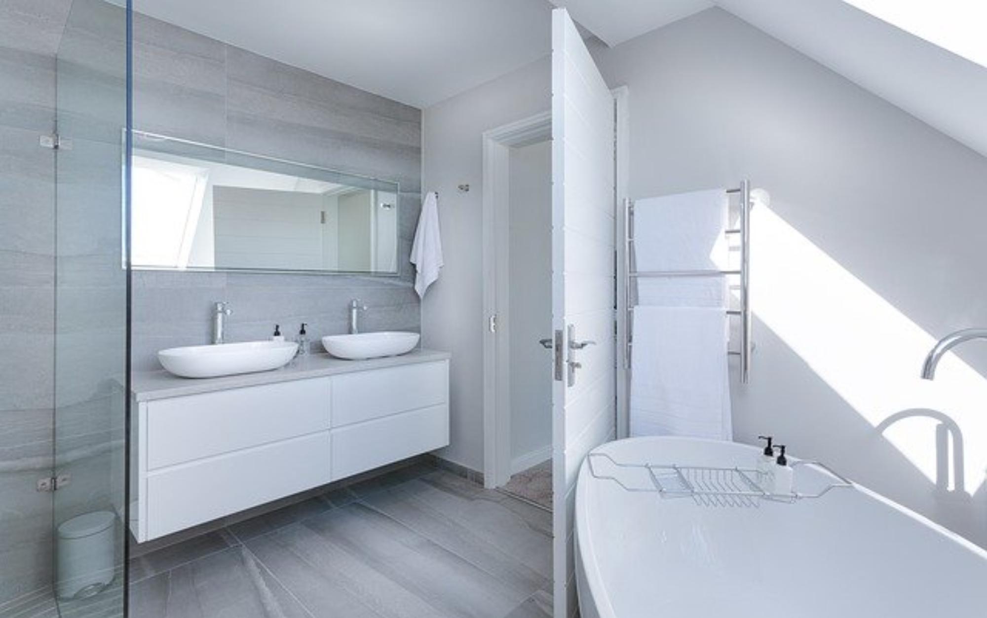 Płytki imitujące beton w Twojej łazience